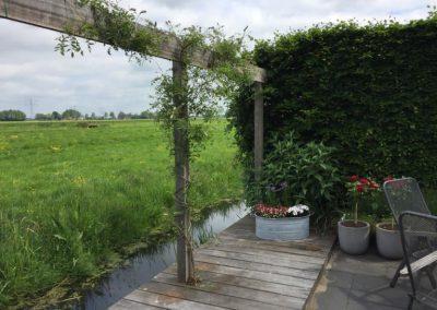 pergola op vlonder tuinontwerp