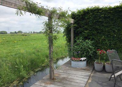 Tuin aan  het weiland