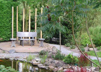Bamboepalen Japanse tuin