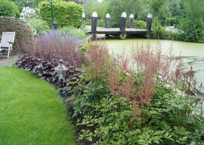 Tuinarchitectuur villatuin - waterkant