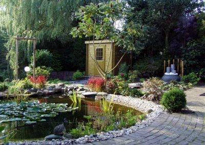 tuinotnwerp Japanse tuin met vijver