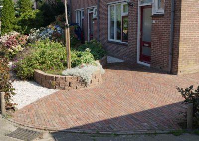 Tuinontwerp voortuin Montfoort Utrecht beukenhaag