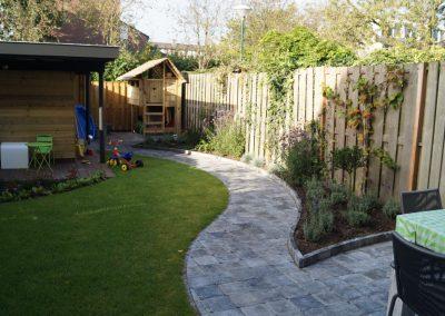 gezellige tuin voor gezin