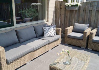 ontwerp kleine tuin Houten Utrecht - loungeterras