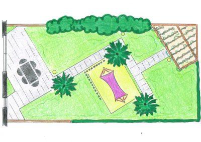 plattegrond tropische tuin