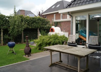 tuinontwerp met pizza-oven Woerden Utrecht