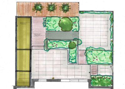 Onderhoudsarme tuin ontwerp Kamerik