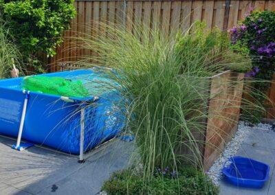 tuinontwerp kleine tuin met zwembadje